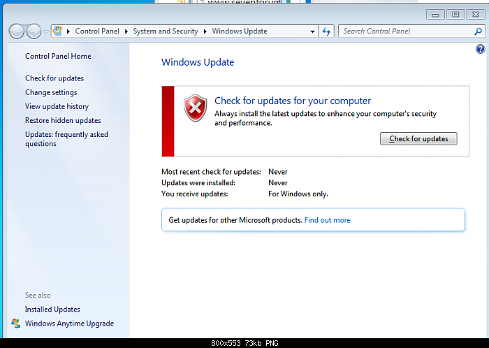 How to Fix the Problem Not able to preform Windows update on a clean