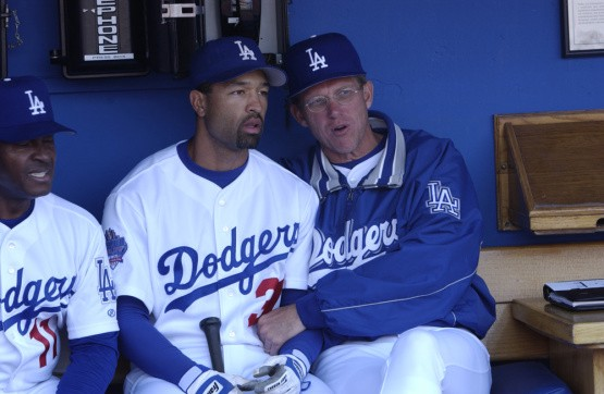 Dave Roberts and Jim Tracy (Photos by Jon SooHoo Los Angeles Dodgers) 84e598d9768