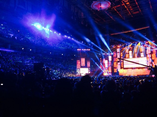 20,000 students and educators pack the Air Canada Centre for We Day Toronto on October 2, 2014.