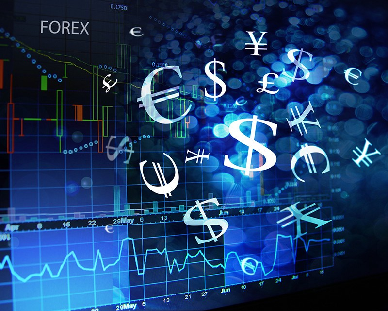 Asian forex trader stock photo