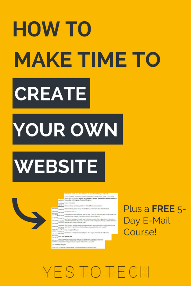How To Make Time To Create Your Own Website Marina