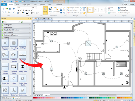 try the handy home wiring plan software for your own design. Black Bedroom Furniture Sets. Home Design Ideas