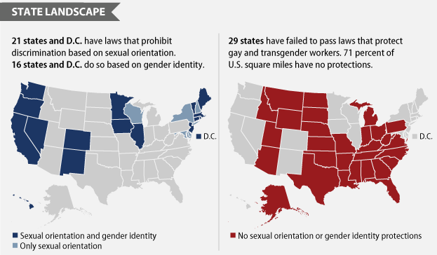 Less than half of us workers are protected from anti lgbt - Transgender discrimination bathroom ...
