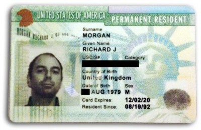 how to read alien number on green card