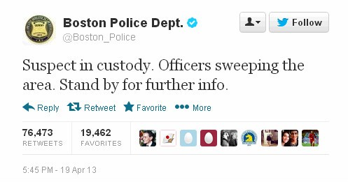 fe1bdeac5e605 Using Social Media official accounts on Twitter   FB of Boston Police  Department did the first thing to aware people of the situation and told  them to stay ...
