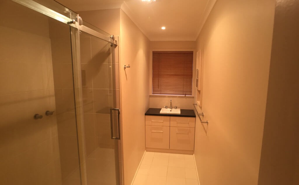 Bathroom photos can be problematic to photograph - yellow colour tint