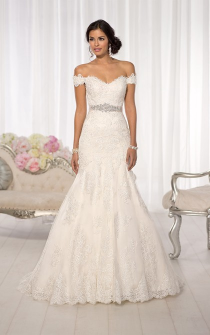 53170d2d0d8 Sexy Trumpet Mermaid Off-the-shoulder Beading Sequins Lace Sweep Brush Train  Wedding Dresses