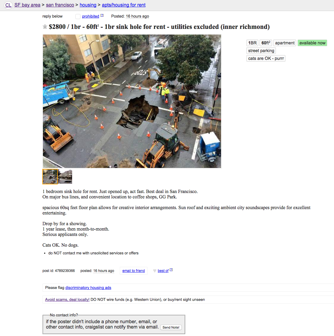 SF Rent Is Officially a Sinkhole Now — The Bold Italic — San Francisco