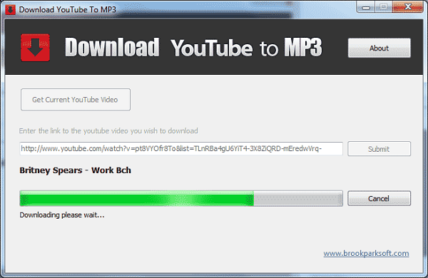 Create download link for mp3