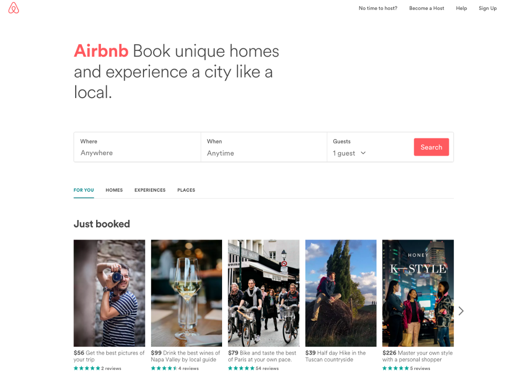 ... As The Stress Of Them Performing Tasks On Your Site Is Diminished With  Simplicity. Check Out How Simple A Recent Example Of Aribnbu0027s Homepage:
