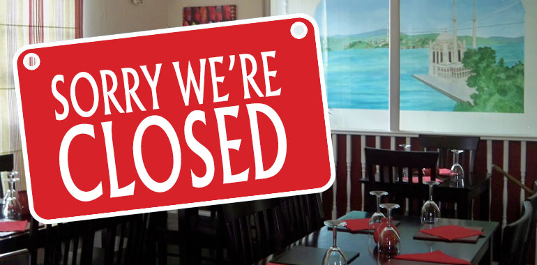Image result for restaurant closed