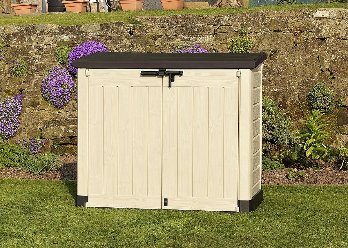 The best plastic garden storage boxes sheds and cupboards for Garden and storage sheds