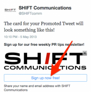 Twitter Shift Email List Call to Action