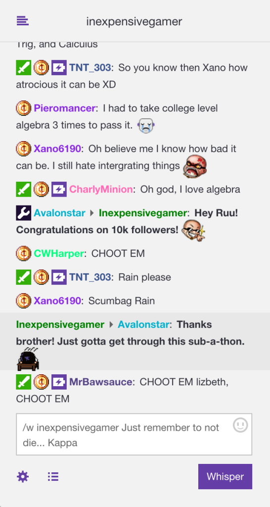 twitch chat not working