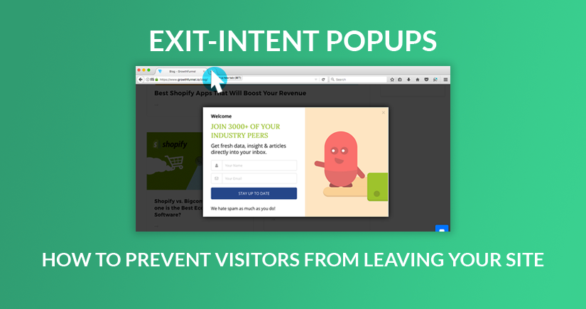 exit intent popups how to prevent visitors from leaving your site