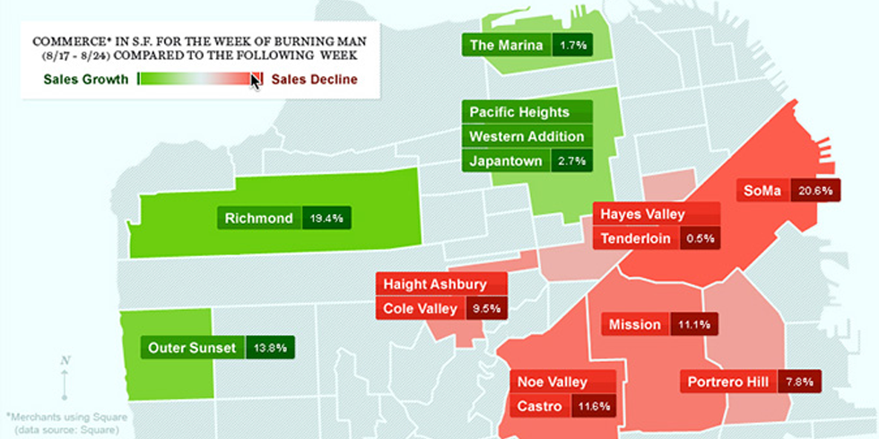 Map Shows Which SF Hoods Go to Burning Man  The Bold Italic  San