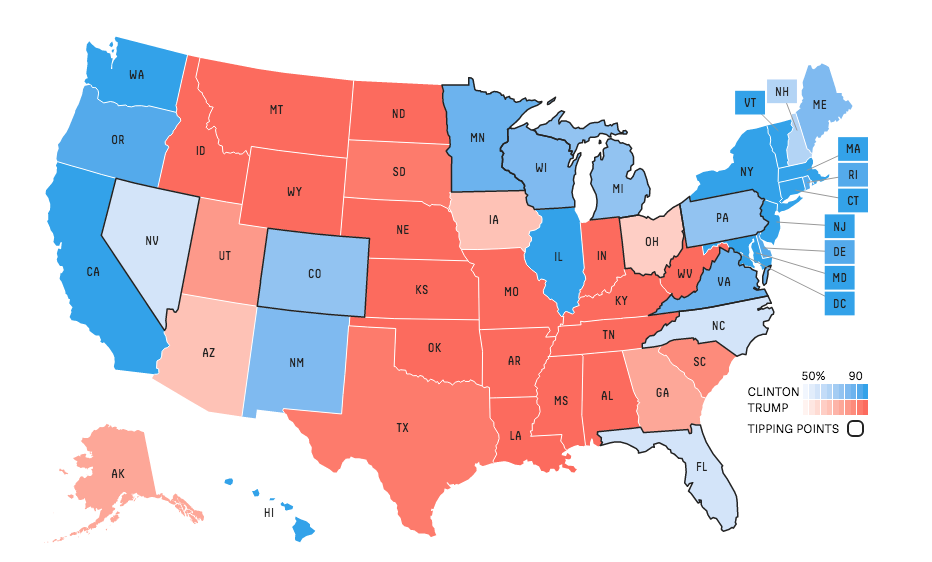 Why we departed from a traditional map US elections 2016