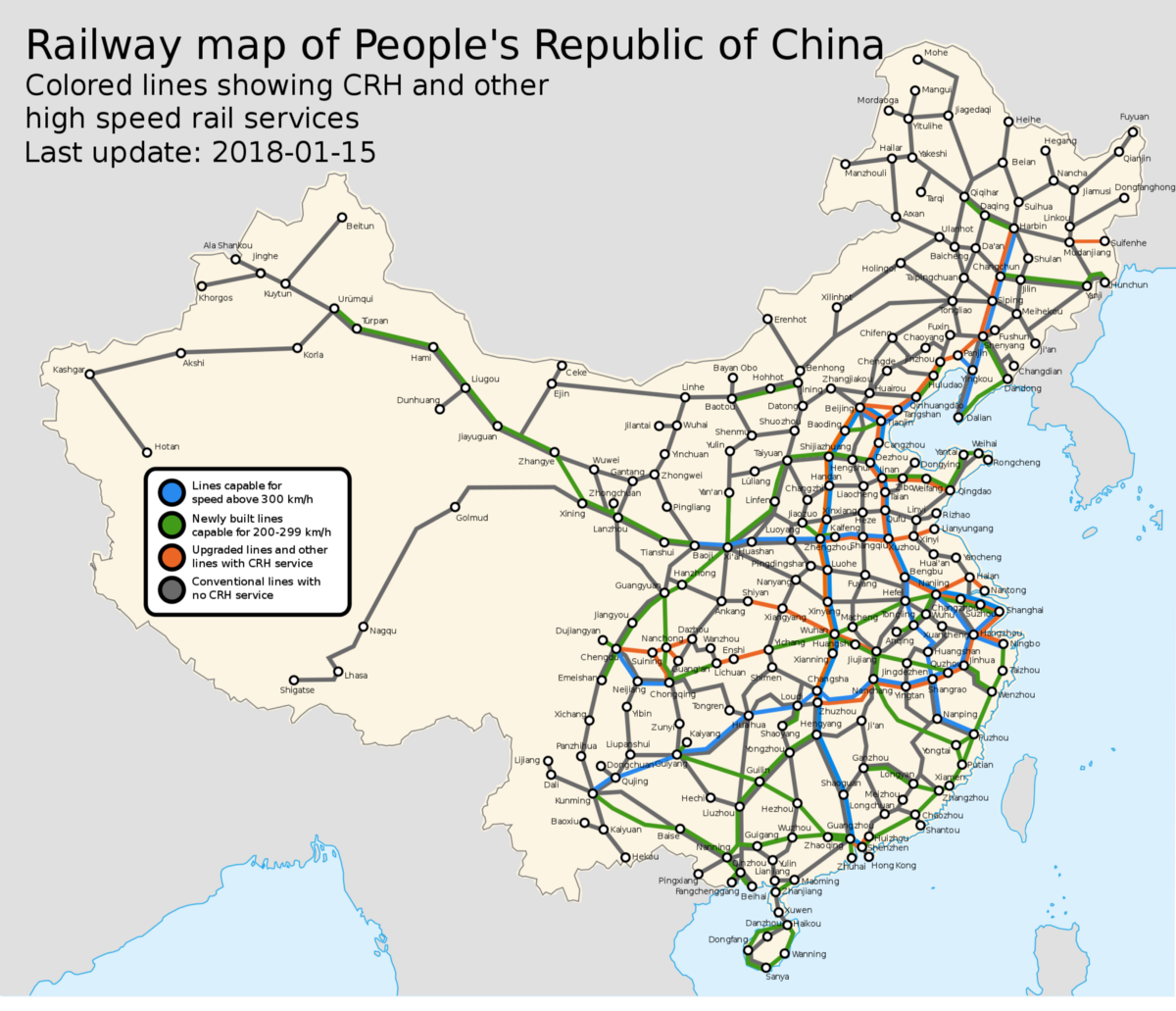 Chinas HighSpeed Train Map Puts US Transportation to Shame