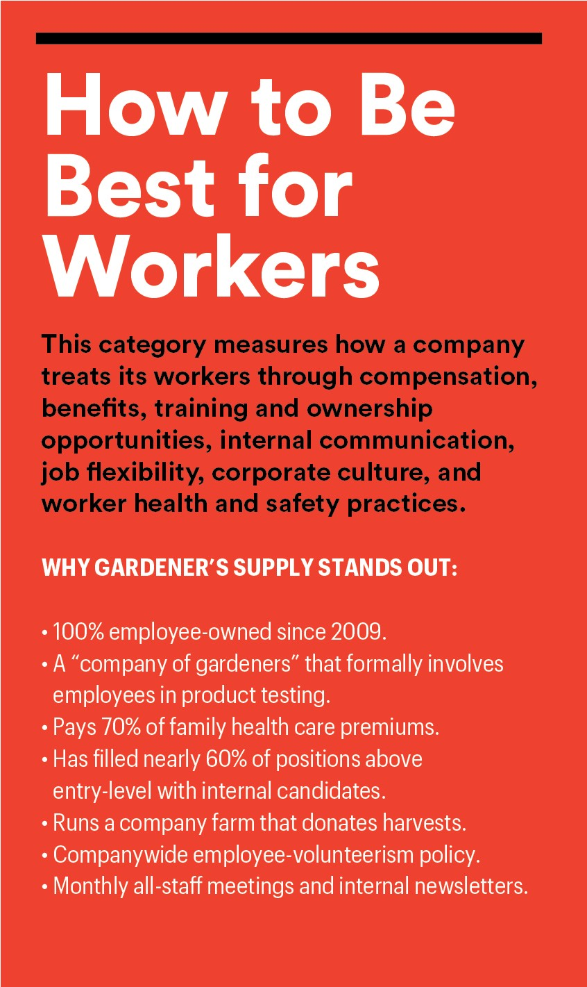 Gardeners Supply Co Where Worker Cultivation Includes Participation