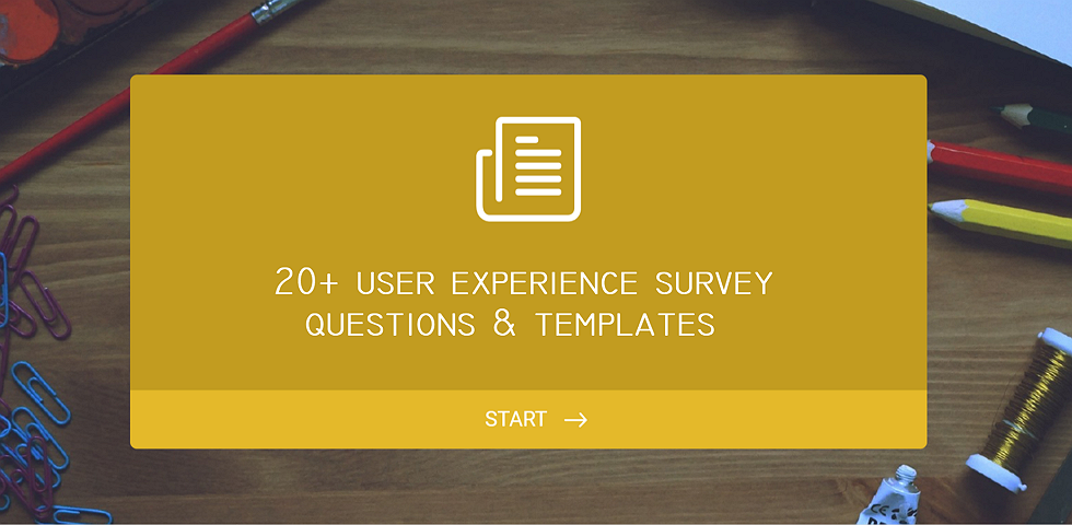20 user experience survey questions and templates for inspiration