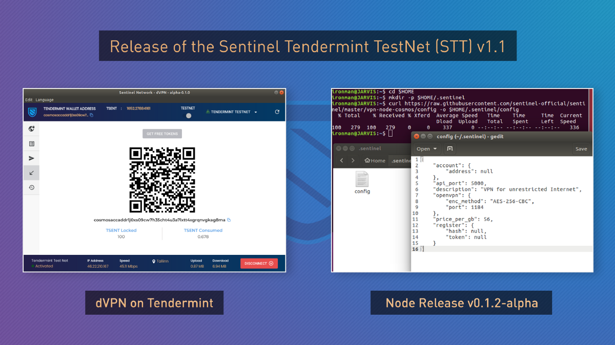 <bold>Sentinel</bold> Tendermint TestNet is now live with the dVPN Desktop App