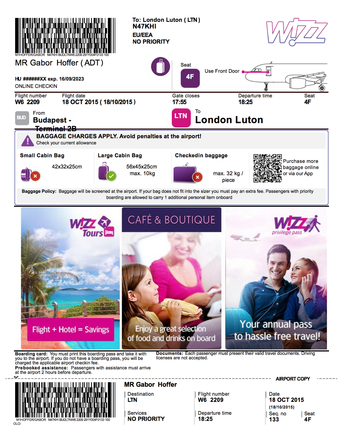 Cheap Cool Stuff >> Dear Wizzair, the ticket! – Hoffer Gábor – Medium