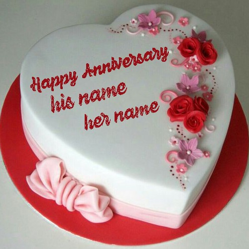 Happy anniversary cake with photo edit free