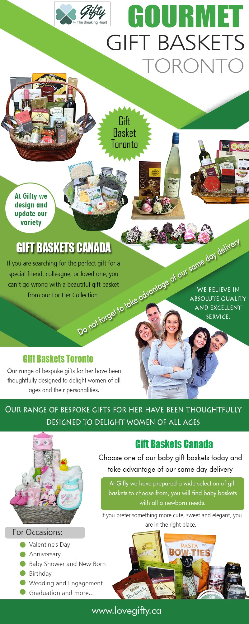 Gourmet gift baskets Toronto with high quality products for all occasions at https://lovegifty.ca/