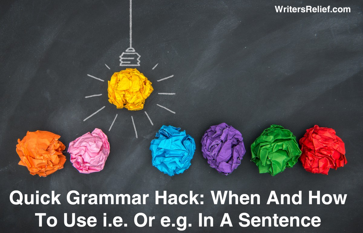 how to use e.g at the start of a sentence