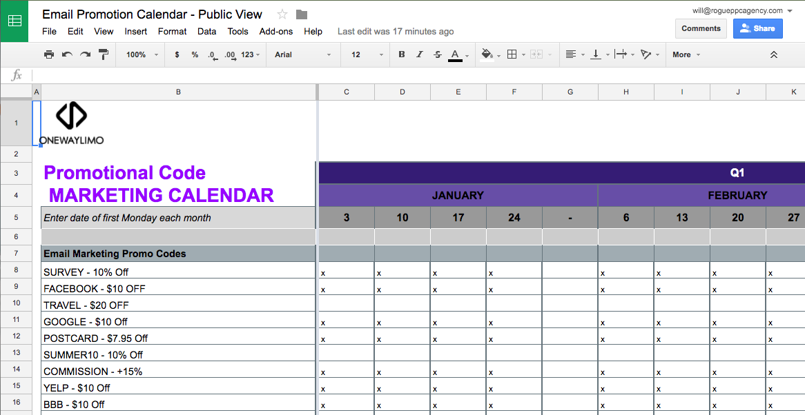 Steal These Templates Email Marketing Promotional Code Calendars