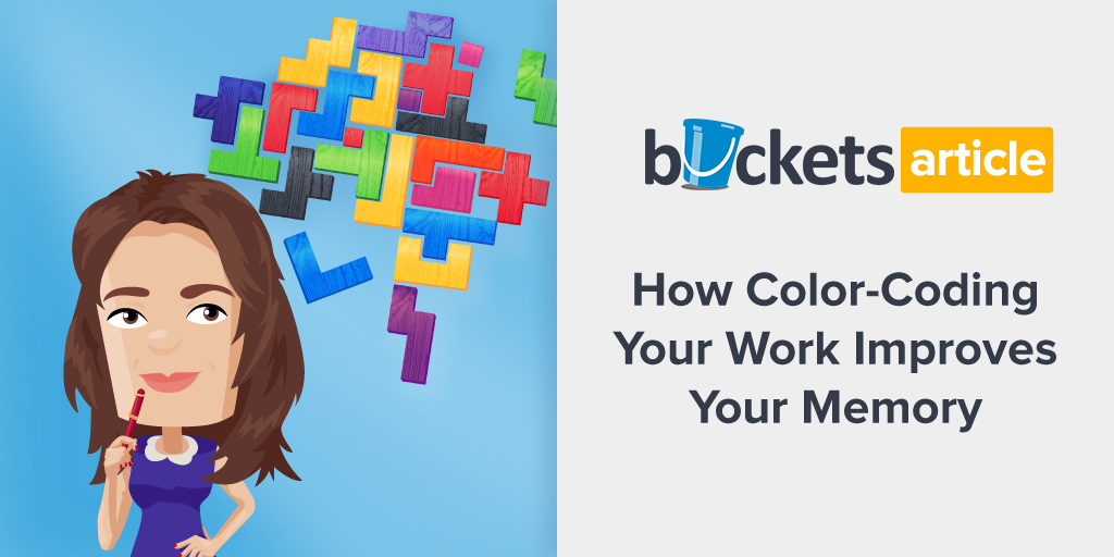 how color coding your work improves your memory buckets blog