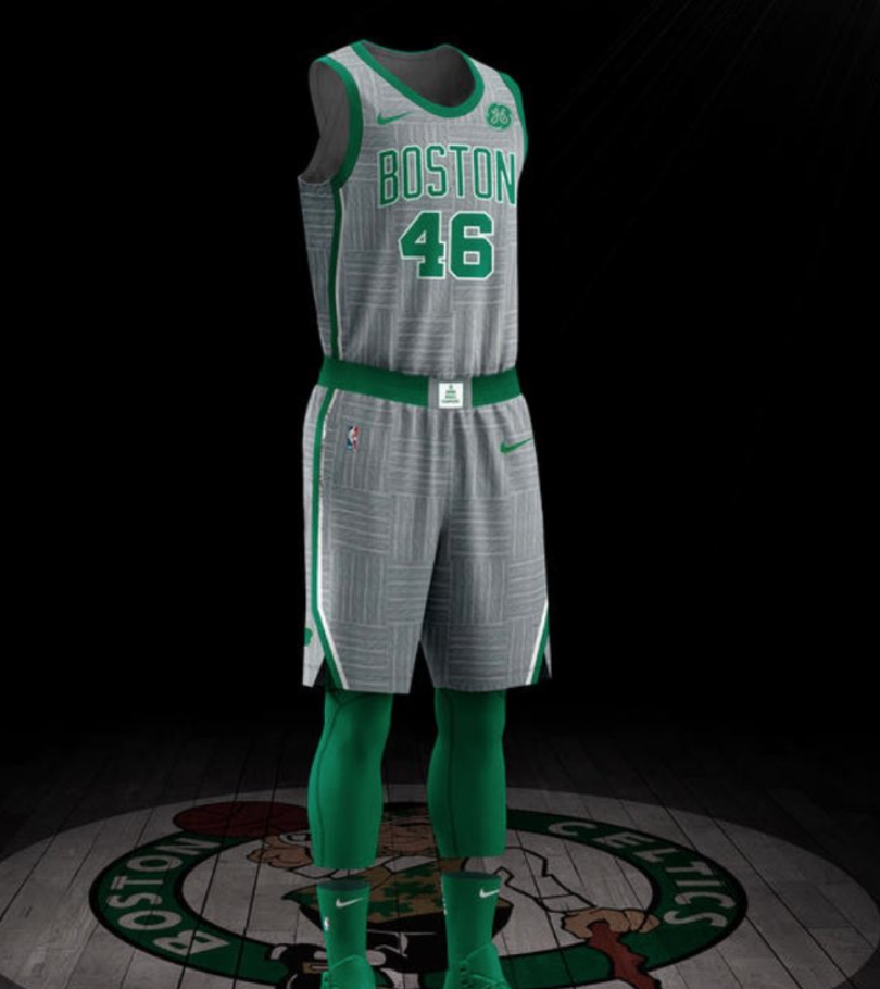 "083fd4f46de For this kit, Boston embraces their ""iconic"" (it's just wood) parquet floor  and decided to apply that design to their jersey."