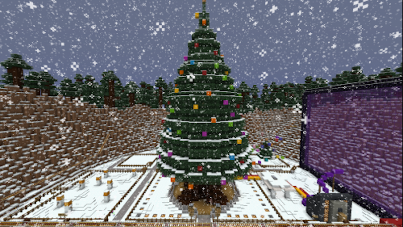 A Real Christmas Tree Controlled Through Minecraft ...