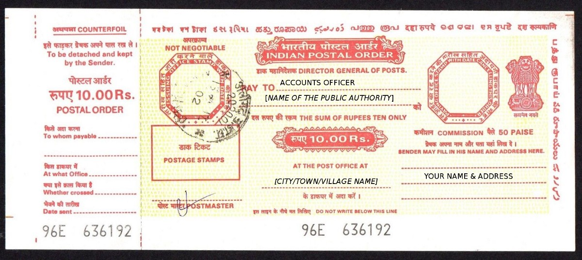 What is ipo indian postal order