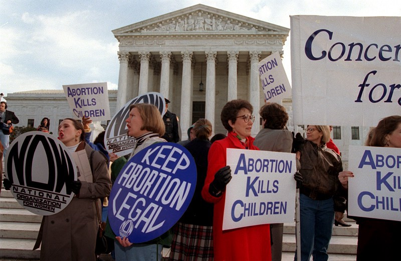 Image result for the u.s. supreme court legalizes abortion
