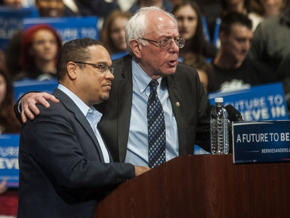 Image result for sanders with keith ellison