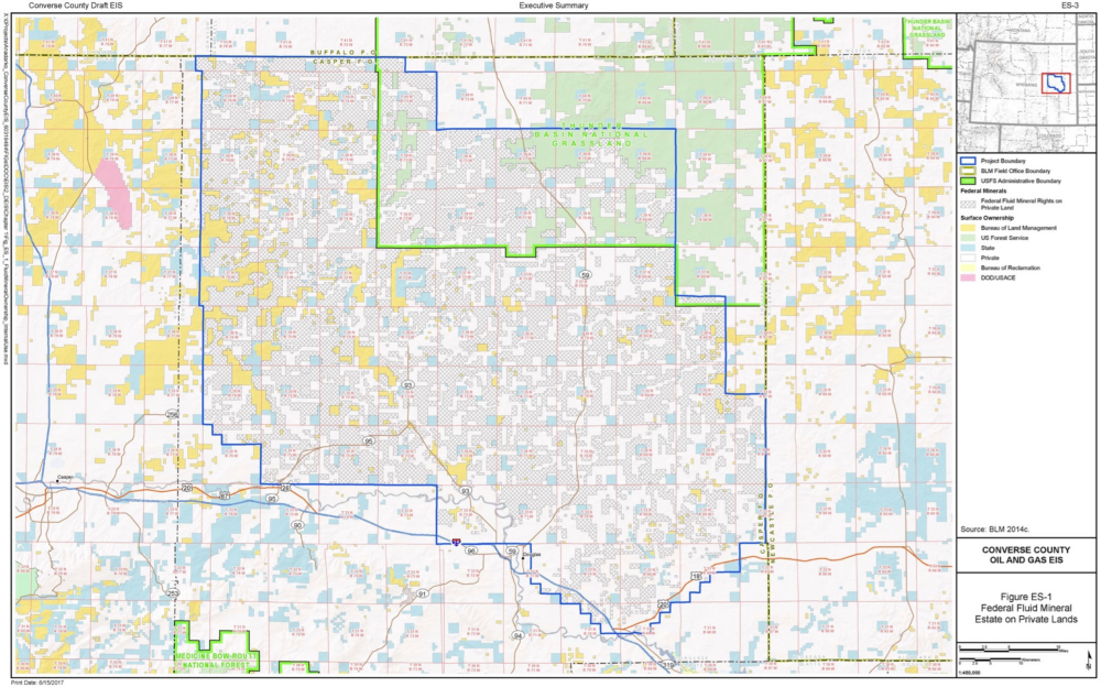 Fracking In Wyoming Map.Fracking Converse County Mountain West News