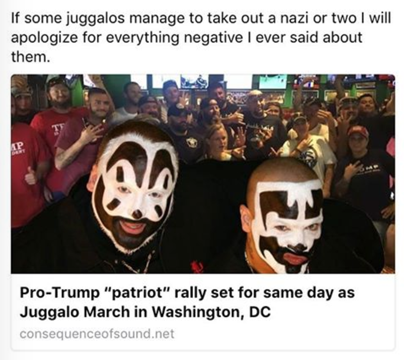 Gang Related What Antifa And Juggalos Have In Common In This
