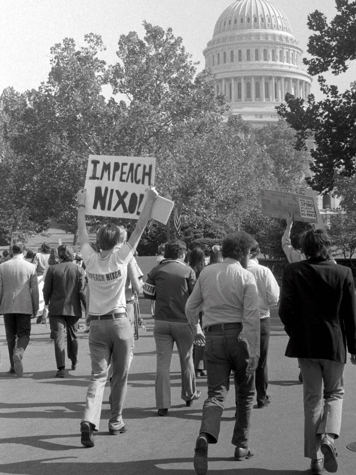 Once Nixon was implicated in the burglary protesters demanded his impeachment