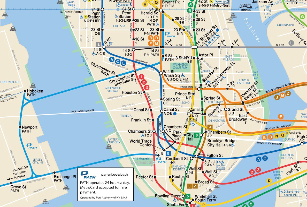 M Subway Map.A More Complete Transit Map For New York New Jersey