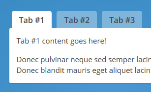 Bootstrap 3 tabs