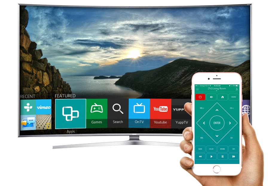 Samsung Smart Tv Remote Control With The Anymote App