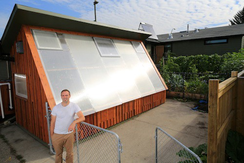 How to Design a Pive Solar Greenhouse : Foundations, Kneewall ... Block Knee Walls Wioth Greenhouse Plans Designs on