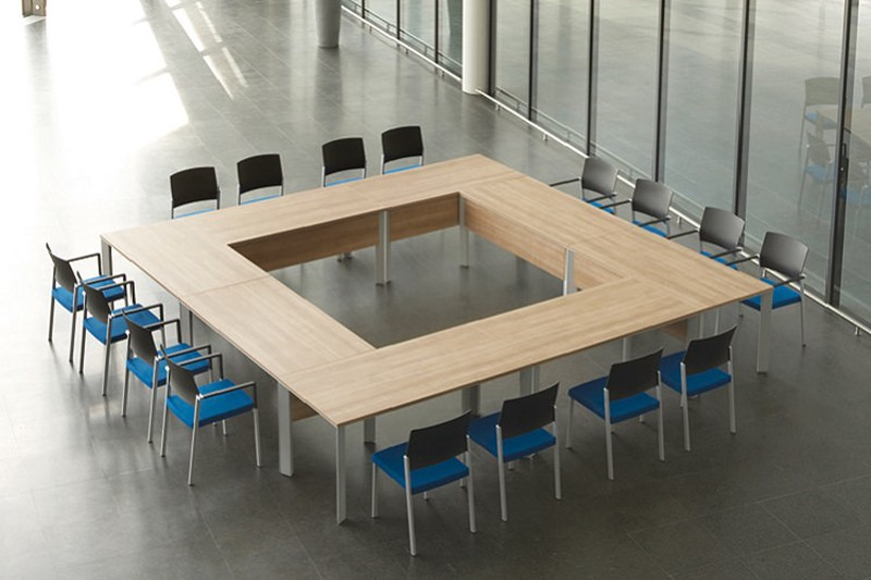 How To Choose The Conference Table Guide To Size Shapes - Square meeting table