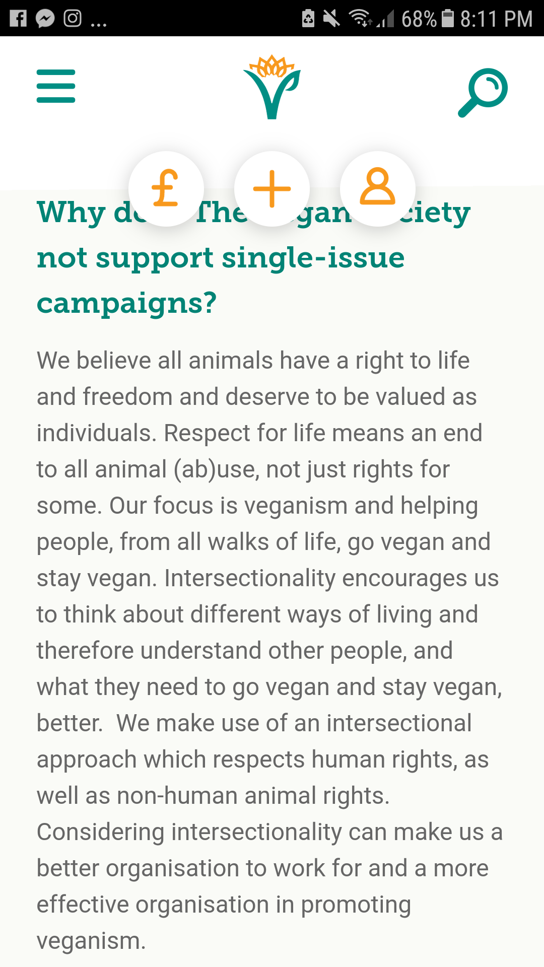 a consistent approach to spreading veganism on behalf of nonhumans —