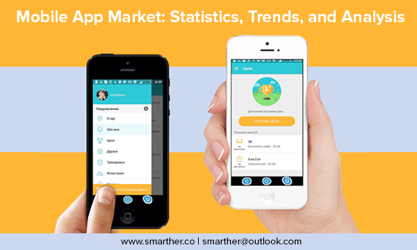 What percentage of mobile app market is dating apps