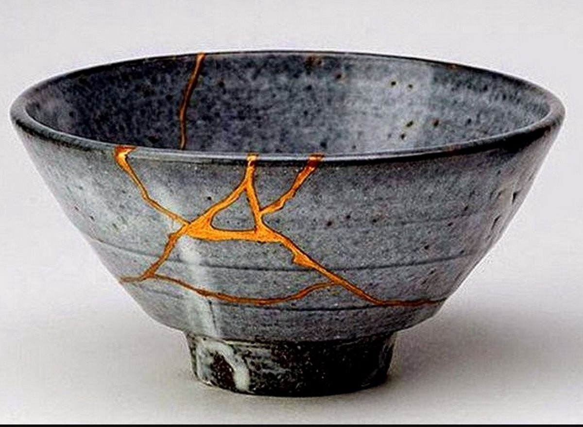 Image result for japanese bowl filled with gold