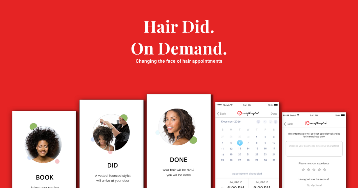 Hair on Demand | UX Case Study