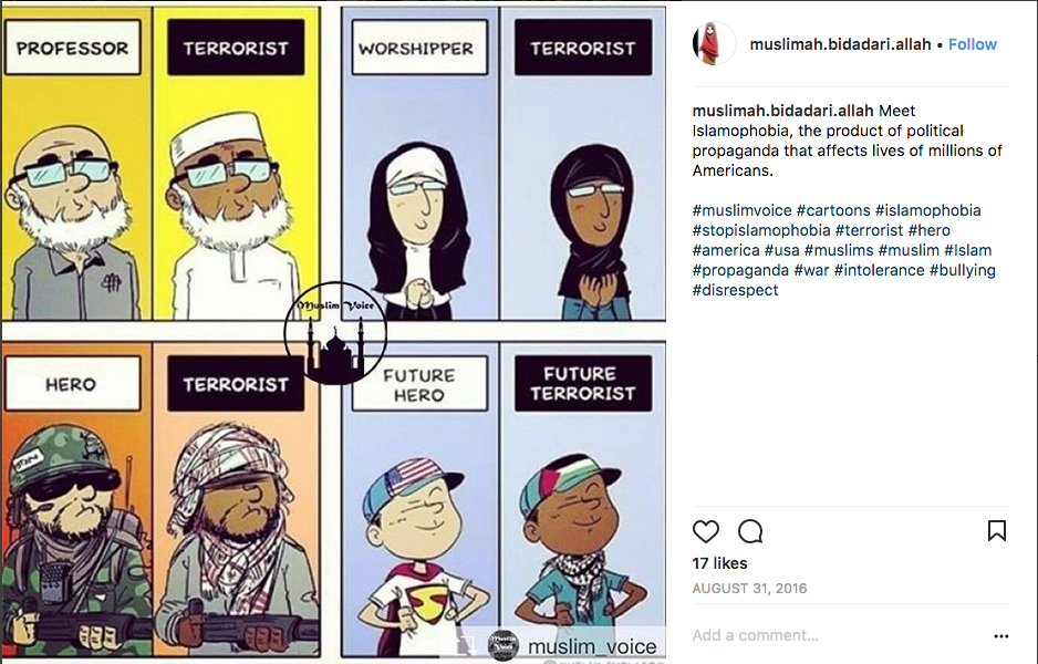 social media about muslims Note: this is a student project from a course affiliated with the ethnography of the  university initiative eui supports faculty development of.