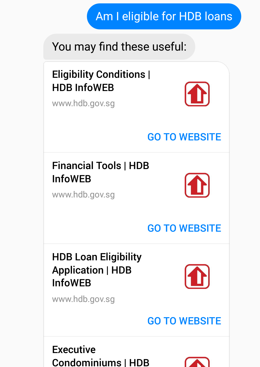 Design features hdb infoweb - We Used A List Design So That Users Can Choose The Most Relevant Result Site To Them When Asking A Question Since Each Government Organisation Keeps Its